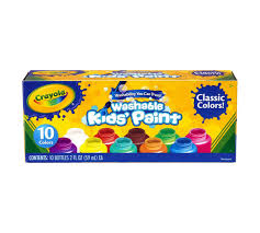 washable kids u0027 paint 10 ct crayola