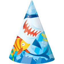 party hats shark party hats 8 count walmart