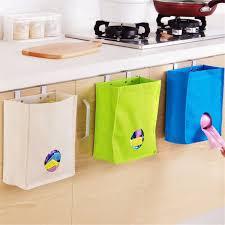 Kitchen Cabinet Door Organizers Kitchen Storage Bag Drawer Cabinet Door Back Garbage Bag Holder