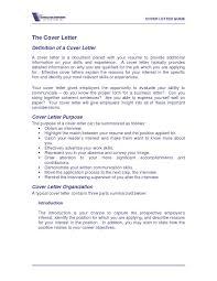 Cover Letter Definition Unique Definition A Cover Letter