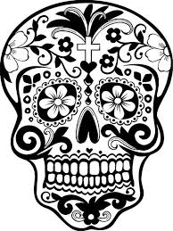 day of the dead skull drawings coloring pages