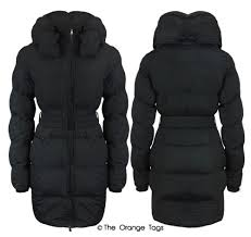 Warm Winter Coats For Women Quilted Belted Zip Padded Coat Ladies Warm Winter Jacket Top Size