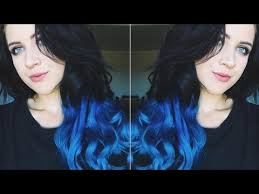 vpfashion ombre hair extensions tutorial of to blue ombré hair extensions ft vpfashion