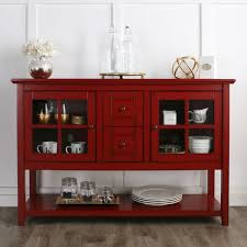 White Sideboard With Glass Doors Buffet Table Furniture Interiors Design