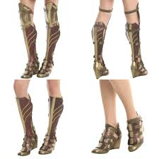 these wonder woman 3 piece wedge boots are perfect for