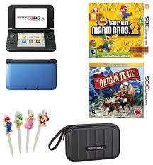 new 3ds xl black friday nintendo 3ds xl blue black with new super mario bros 2 and