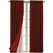 Eclipse Blackout Curtain Liner Eclipse Blackout Thermaliner Curtain Panels Set Of 2 Walmart
