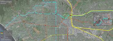 Los Angeles Metro Map by Metro Rail Wilshire Vermont