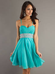 a line spaghetti straps chiffon blue cocktail dresses short prom