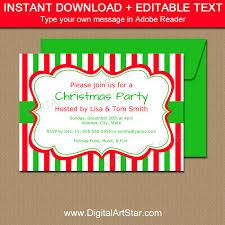 christmas invitations christmas invitation template editable invitations
