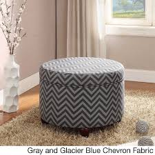 magnificent large round storage ottoman homepop large ivory