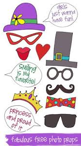free printables diy photo and photobooth props with many many