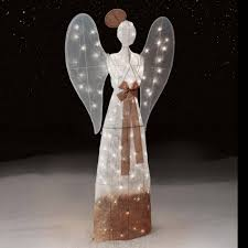 Outdoor Lighted Christmas Angels by Outdoor Lighted Christmas Angel With Trumpet Outdoor Christmas