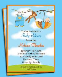 teddy bear umbrella boy u0027s baby shower invitation printable