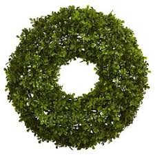 preserved boxwood wreath preserved boxwood leaves wreath 21 25 smith hawken target