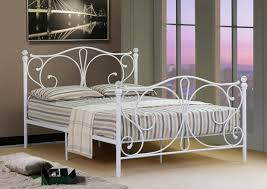 Bed Frame White 4ft 4ft6 5ft King Black Or White Metal Bed Frame With