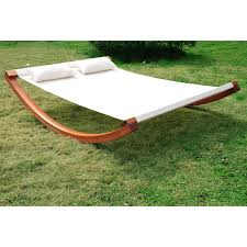 Hammock With Wooden Stand Outsunny 2 Person Wood Swing Arc Hammock Bed And Stand Set With