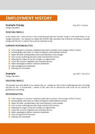Resume Work History Examples by Sample Of Australian Resume Resume For Your Job Application