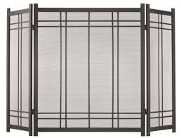 3 panel room divider pleasant hearth preston 3 panel steel fireplace screen u0026 reviews