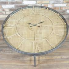 Clock Coffee Table by Industrial Clock Coffee Table Www Dmwfurniture Co Uk