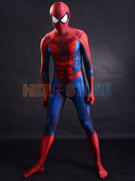 newest classic spider man costume 3d printing superhero costume