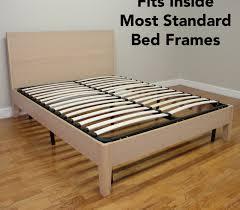 Metal Bed Frame With Wooden Slats Europa Wood Slat Metal Bed Frame Classic Brands