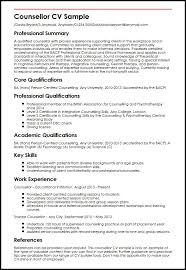 Examples Of Communication Skills For Resume by Counsellor Cv Sample Myperfectcv