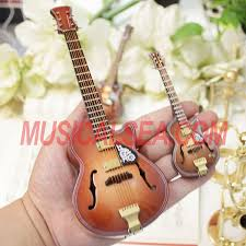 miniature wooden replica guitar decoration gift for