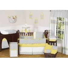 Grey And Yellow Crib Bedding Sweet Jojo Designs 9 Gray And Yellow Chevron Zig Zag Unisex