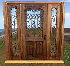 House Door by Second Life Marketplace Scripted Wood And Wrought Iron House