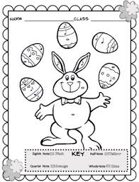 music coloring sheets spring u0026 easter color by note by emily conroy