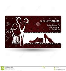 Email Business Card by Business Card Repair Shoe Vector Stock Vector Image 92742417