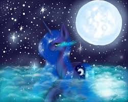 princess luna in the moon lake by artsbynori on deviantart