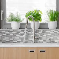 Marble Tile Kitchen Backsplash Backsplash Tiles Smart Tiles Home Depot Subway Tile Kitchen