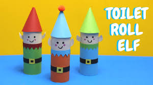toilet roll elf christmas crafts toilet paper roll craft youtube
