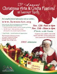 christmas arts and crafts festival at lanier tech on november 12