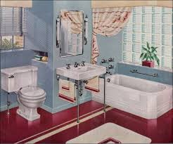 1947 american standard burgundy and baby blue bathroom