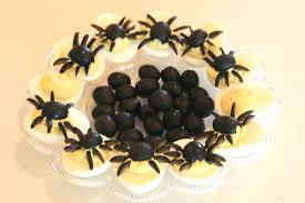 Spider Cakes For Halloween Deviled Spide Eggs For Halloween U2014 Shockingly Delicious