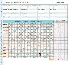 Sheets Template Excel Attendance Sheet Record Template In Excel With