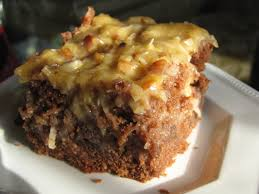 category german chocolate poke cake good eats no meats