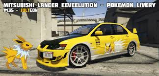 mitsubishi yellow mitsubishi lancer eeveelution jolteon c west pokemon livery