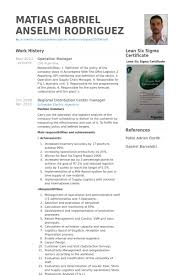 operation manager resume samples visualcv resume samples database