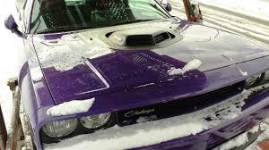 2014 dodge challenger plum purple plum 2014 dodge challenger r t shaker spotted in detroit
