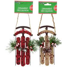 bulk house sled ornaments at dollartree