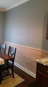 my shiplap chair rail in my kitchen paint color is valspar martha