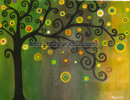modern tree paintings acrylic paintings colours of india