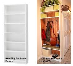 ikea hack bench bookshelf billy to entry bench locker backpacks entry bench and ikea hackers