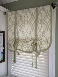 Pull Up Curtains How To Make A No Sew Window Curtain Shade Snapguide