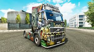 volvo lorry skin monsters attack at volvo trucks for euro truck simulator 2