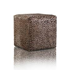 Animal Print Furniture by Leather Pouf Fancy Platinum Leopard Print Furniture Pao U0026efe